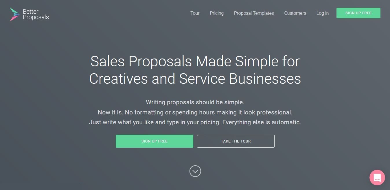 better proposals hompage