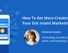 exit intent creative