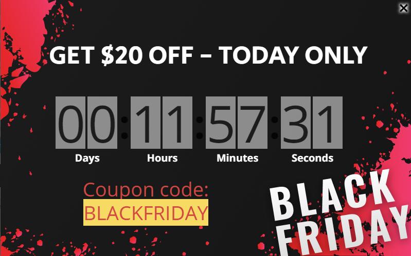 Black Friday lightbox