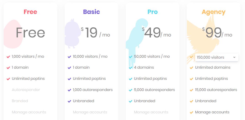 getsitecontrol alternative poptin pricing