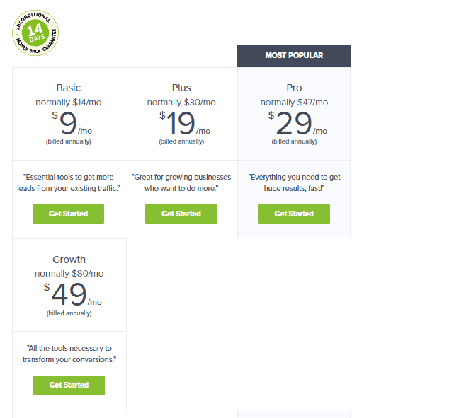 wisepops alternative optinmonster pricing