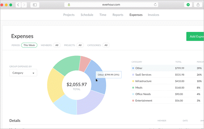 everhour, time tracking, expenses