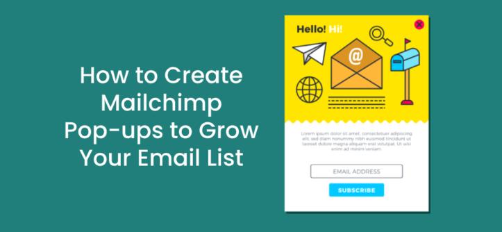 Como Criar Pop-ups Mailchimps para Aumentar sua Lista de E-mail