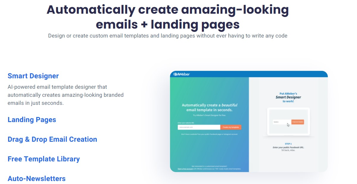 AWeber Features Emails