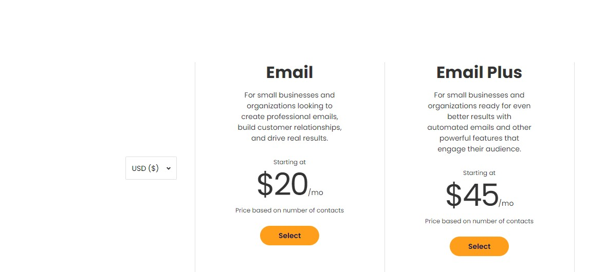 Constant Contact Email Price