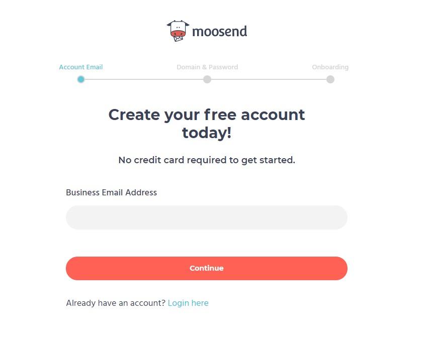 Moosend Signup