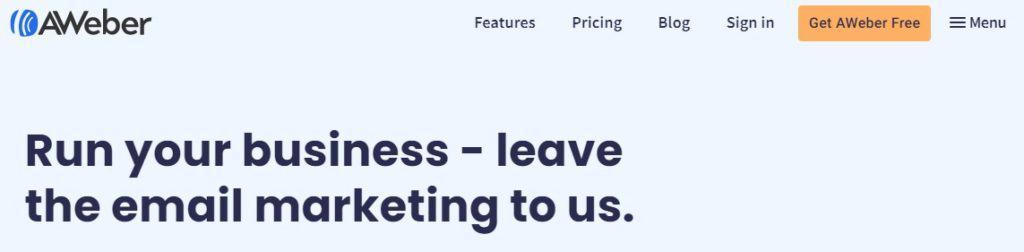 aweber website, aweber, email marketing