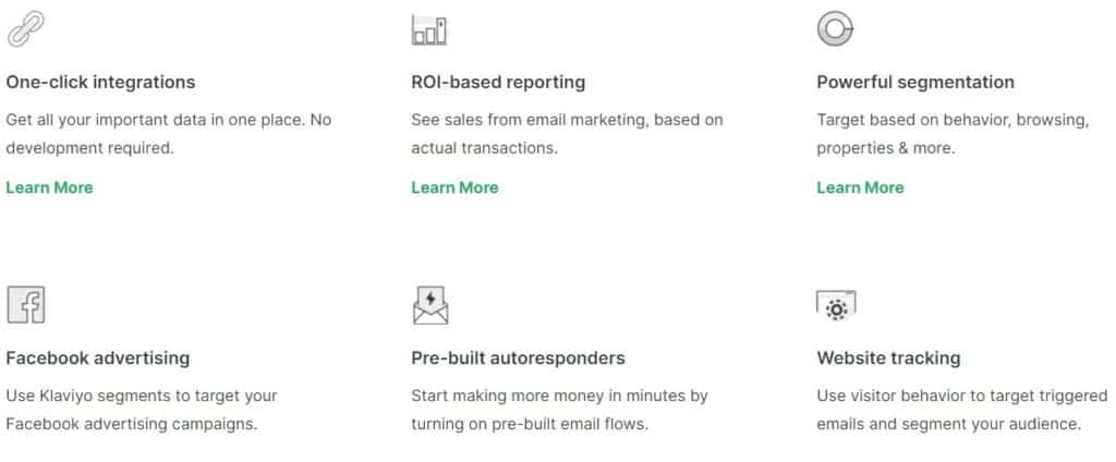 klaviyo features, klaviyo email marketing