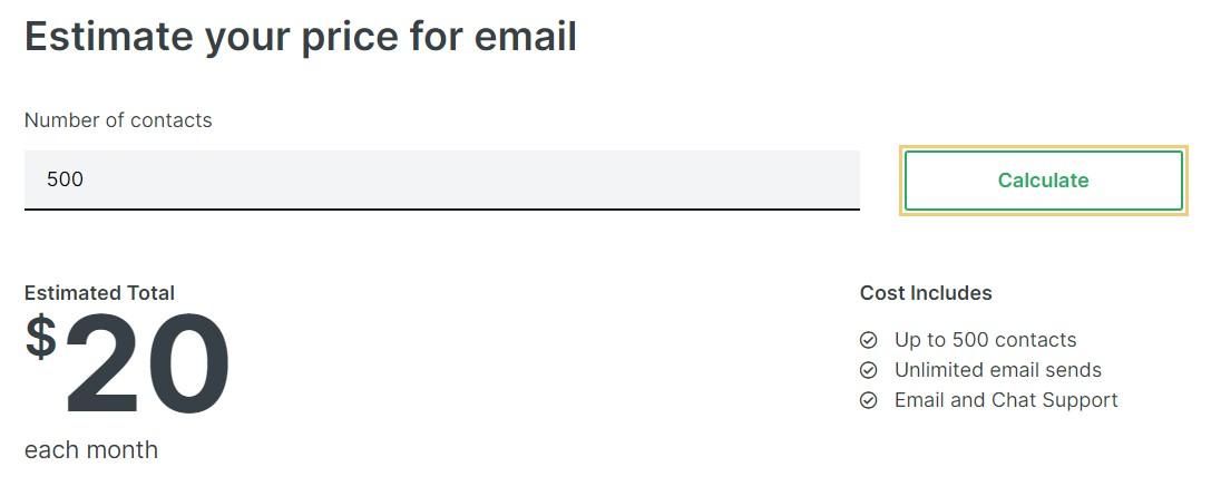 Klaviyo Pricing Email
