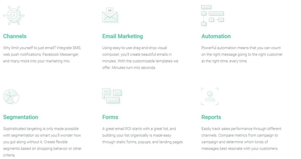 omnisend, omnisend features, email marketing