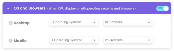 poptin, targeting options, pop ups