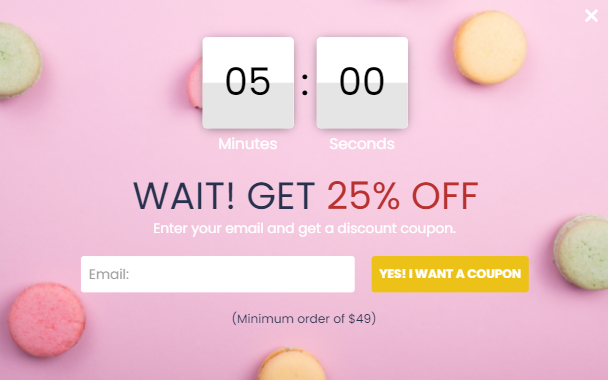 poptin, pop ups, countdown popup