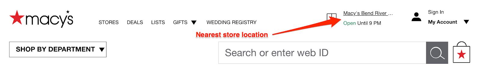 nearest store location