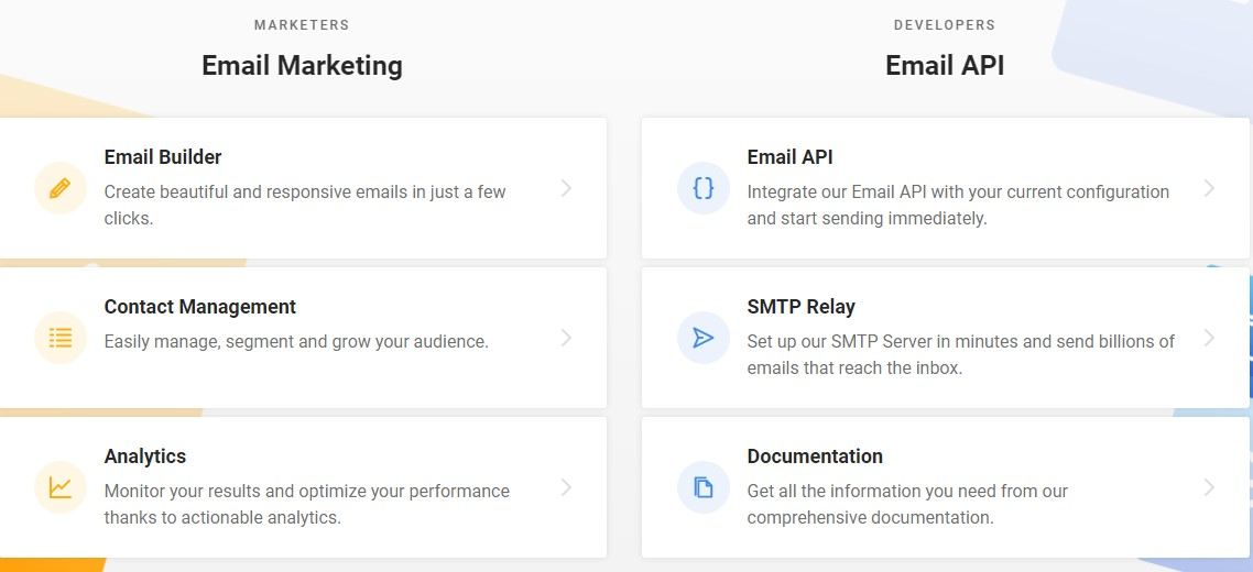 Mailjet Features