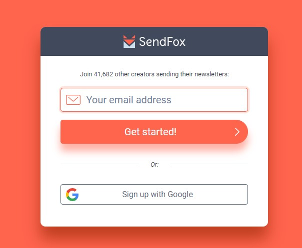 SendFox Welcome