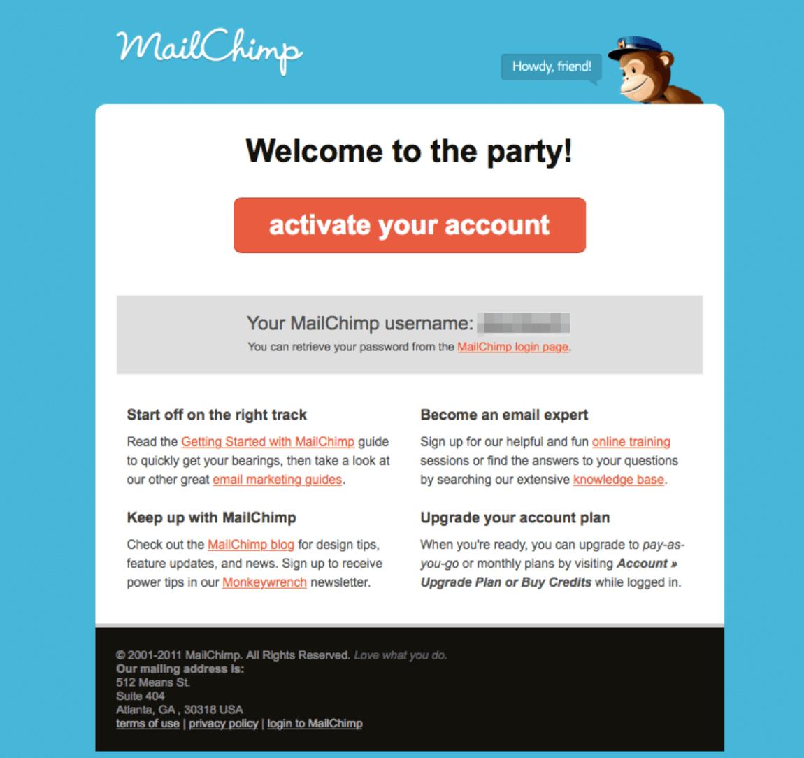 poptin mailchimp confirmation example