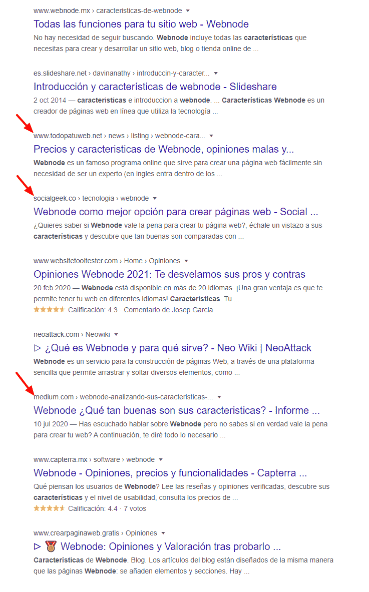 The sites in this search are so sloppy that I already own 3 places on the first page.