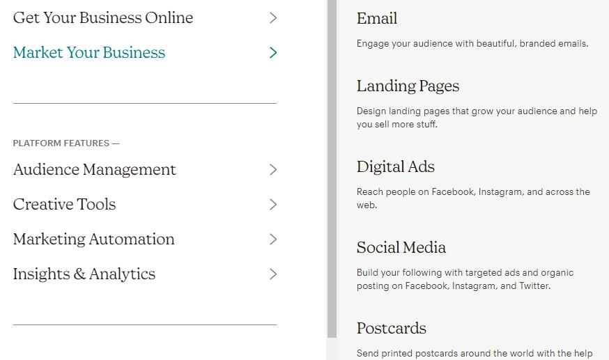 MailChimp Features