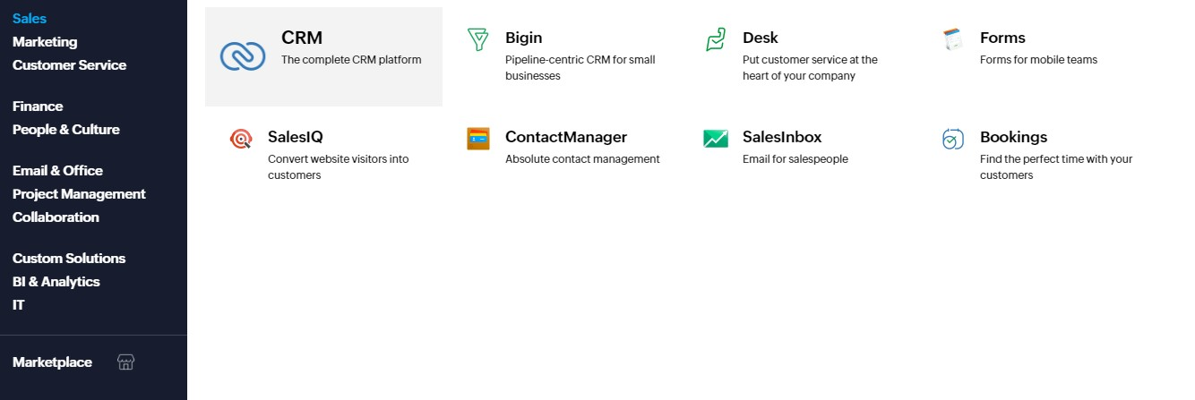 Zoho Features