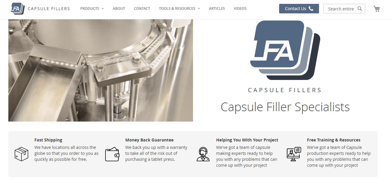 lfa capsule fillers screenshot