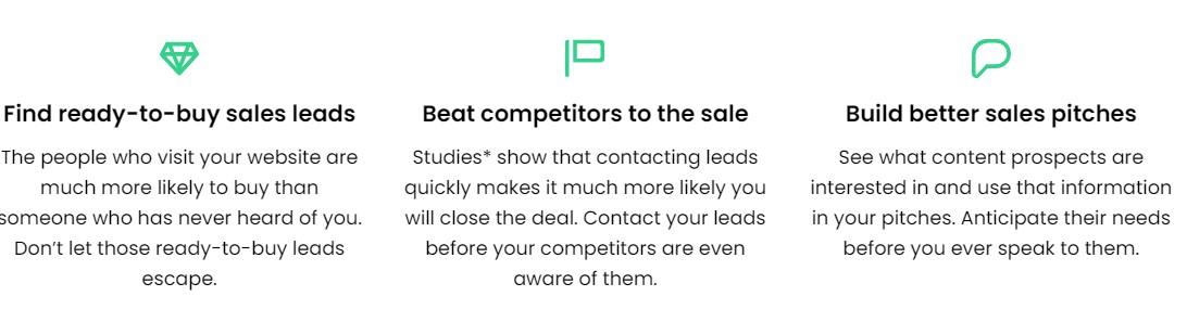 LeadFeeder Sales Features