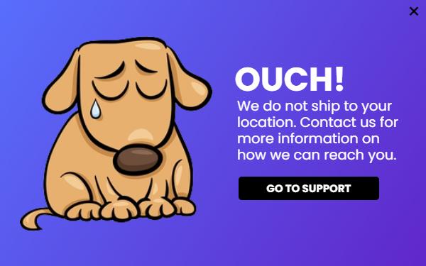shipping popup lightbox idea