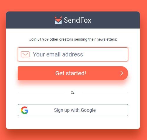 SendFox Welcome