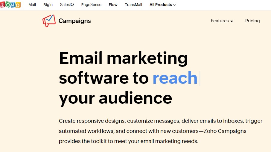 Zoho Campaigns Welcome