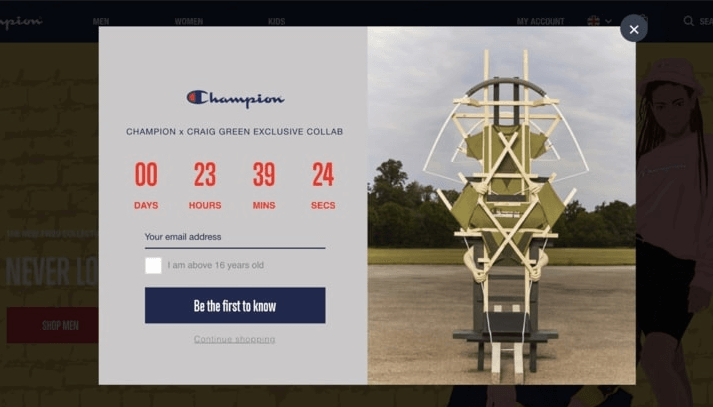 important features popup builder champion countdown popup example