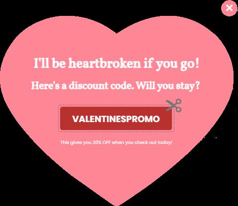 valentine's day pop ups