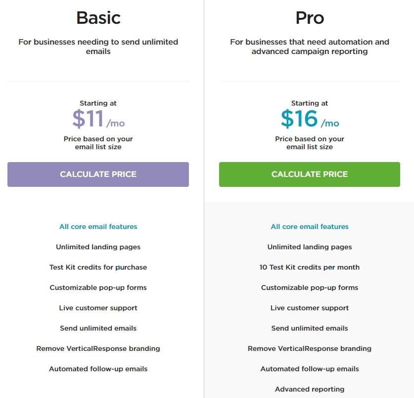 Verticalresponse Pricing