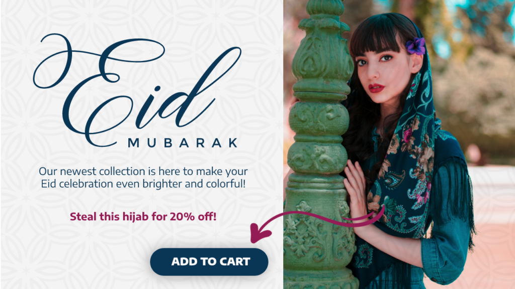 eid mubarak pop ups sale hijab discount campaign
