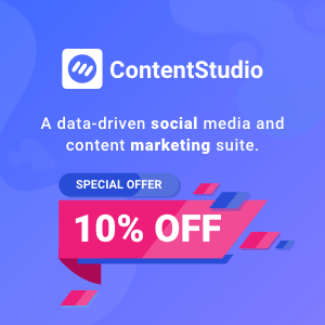 ContentStudio coupon code